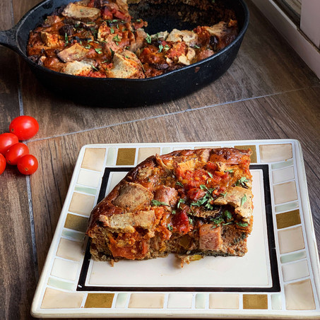 Pizza Pocket Skillet (PALEO & Low Carb)