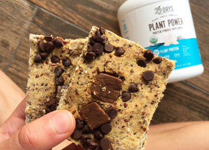 Bomb Cookie Dough Bars (vegan, low carb, gluten free)