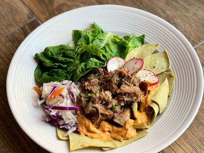 Pulled Pork Nachos w/ Jicama Slaw (Paleo & Low Carb)
