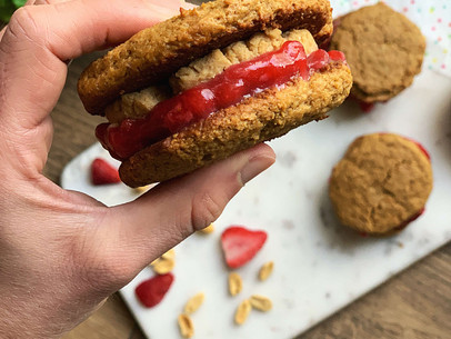 Peanut Butter & Jelly Cookie Sandwiches (Low Carb & Gluten Free)