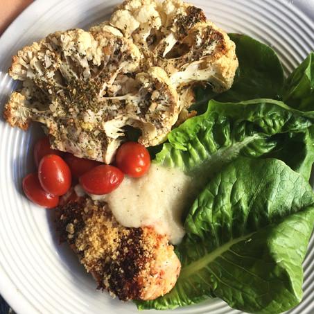 Gyro Cauliflower Steak (Paleo, Vegan, Keto)