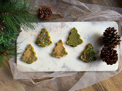 Cookie Dough Christmas Trees (Keto & Gluten Free)