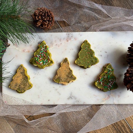 Cookie Dough Christmas Trees (Keto & Gluten Free)