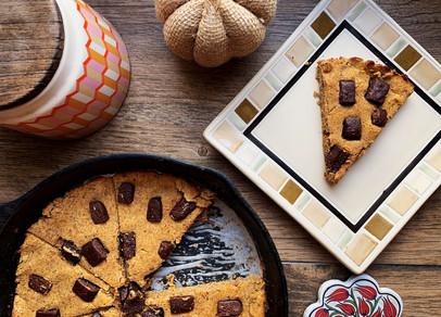 Pumpkin Maple Cookie Skillet (Keto & Gluten Free)