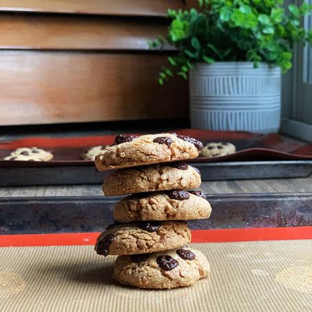 Vanilla Chip Tahini Cookies (Vegan & Keto)