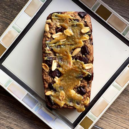 Peanut Butter Caramel Banana Bread (Keto & Vegan)