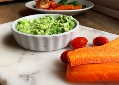Cheesy Easy Guacamole (Low Carb, Gluten Free)