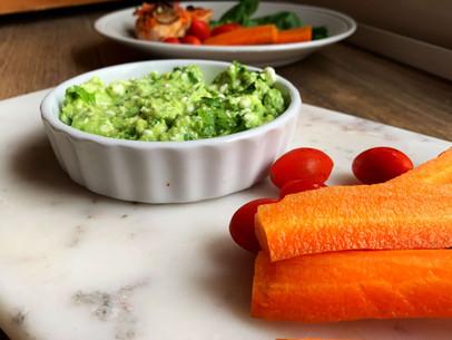 Cheesy Easy Guacamole (Low Carb, Gluten Free)