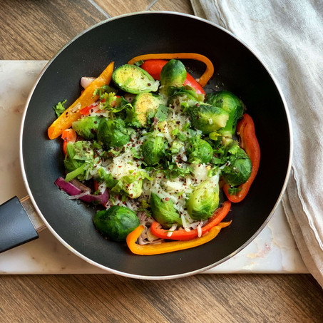 Brussel Sprouts Fajita Skillet (Low Carb & Vegan)