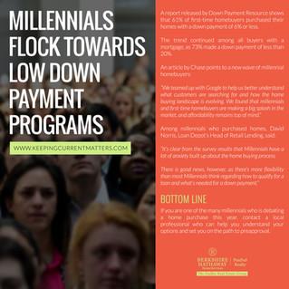 Millennials Flock Towards Low Down Payment Programs