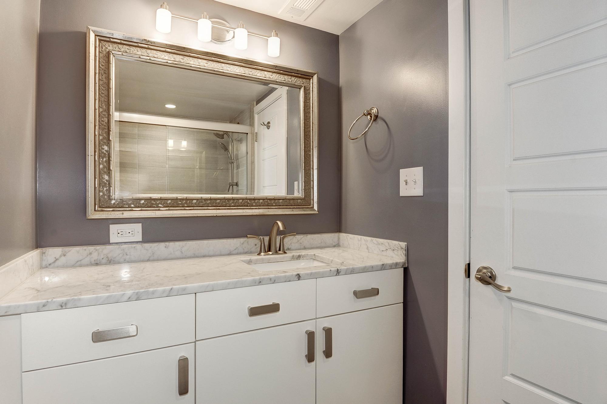 Large Granite Sink in Bathroom
