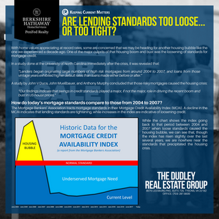 Are Lending Standards Too Loose…Or Too Tight?