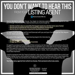 You Don't Want To Hear This From Your Listing Agent