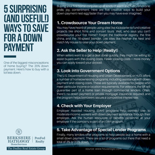 5 Surprising Ways to Save for a Down Payment