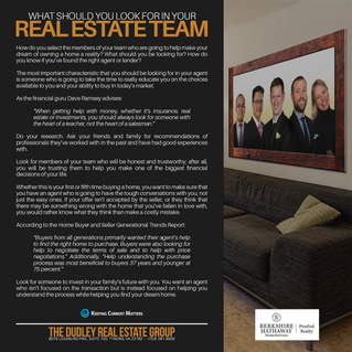 What Should You Look For In Your Real Estate Team?
