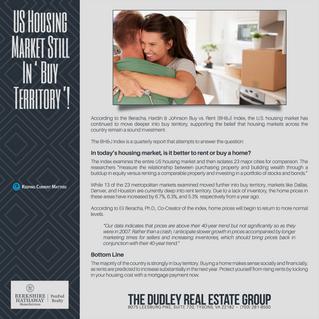 US Housing Market Still In 'Buy Territory'!