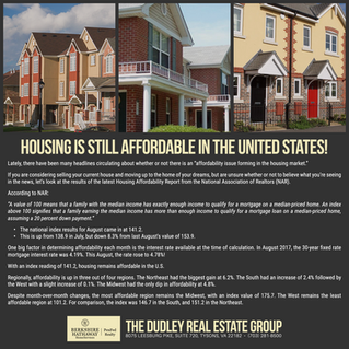 Housing Is Still Affordable In The United States!