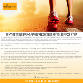 Why Getting Pre-Approved Should Be Your First Step