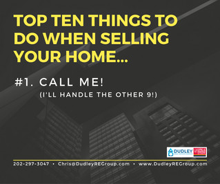 TOP 10 Things To Do When Selling Your Home...