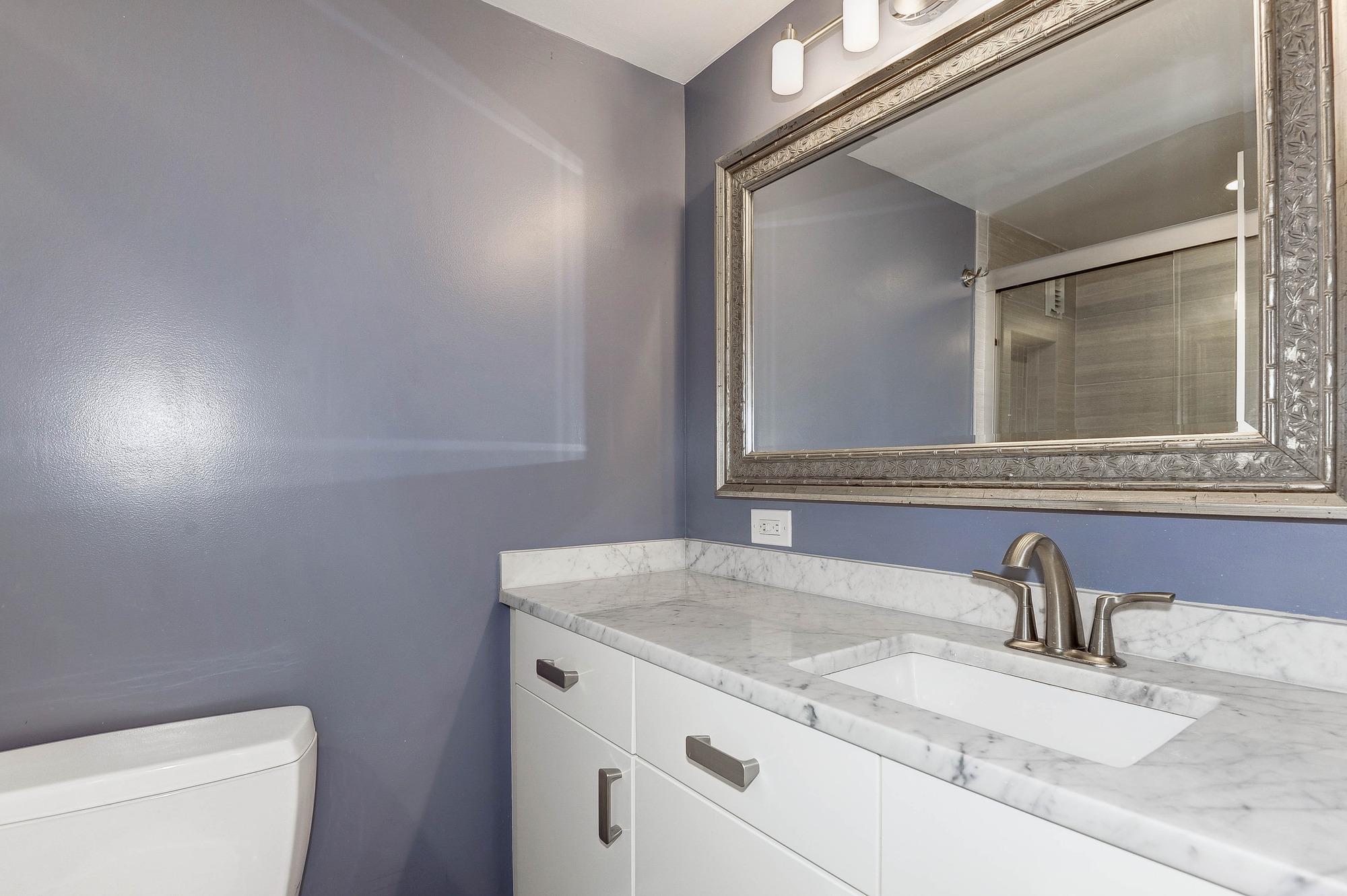 New Bathroom - Large Granite Sink