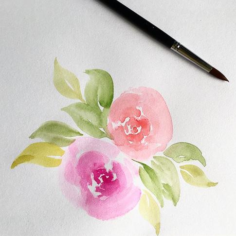 Las rosas son una de mis flores favoritas. Me encanta pintarlas, fue de las primeras que hice cuando inicié en la acuarela ☺️.jpg