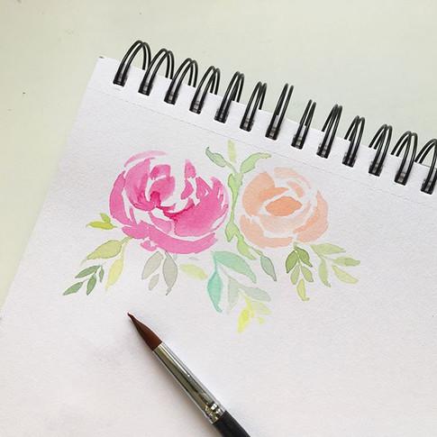 Flores, colores, letras y acuarela se han vuelto mi respiro y relajación del día.jpg