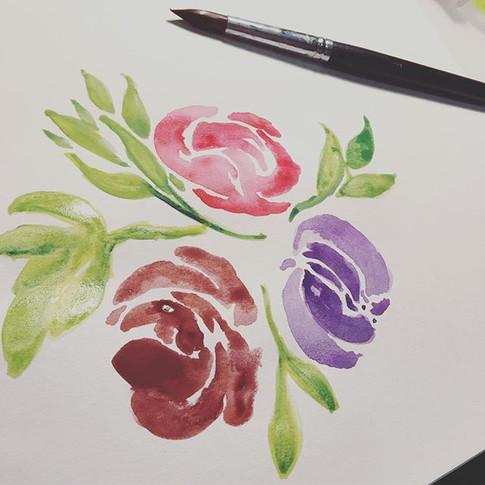 Por que el amor al arte es uno solo 🌷 •_#watercolorpainting #acuarela #watercolor #art
