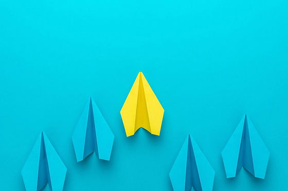 leadership-concept-with-paper-planes-on-