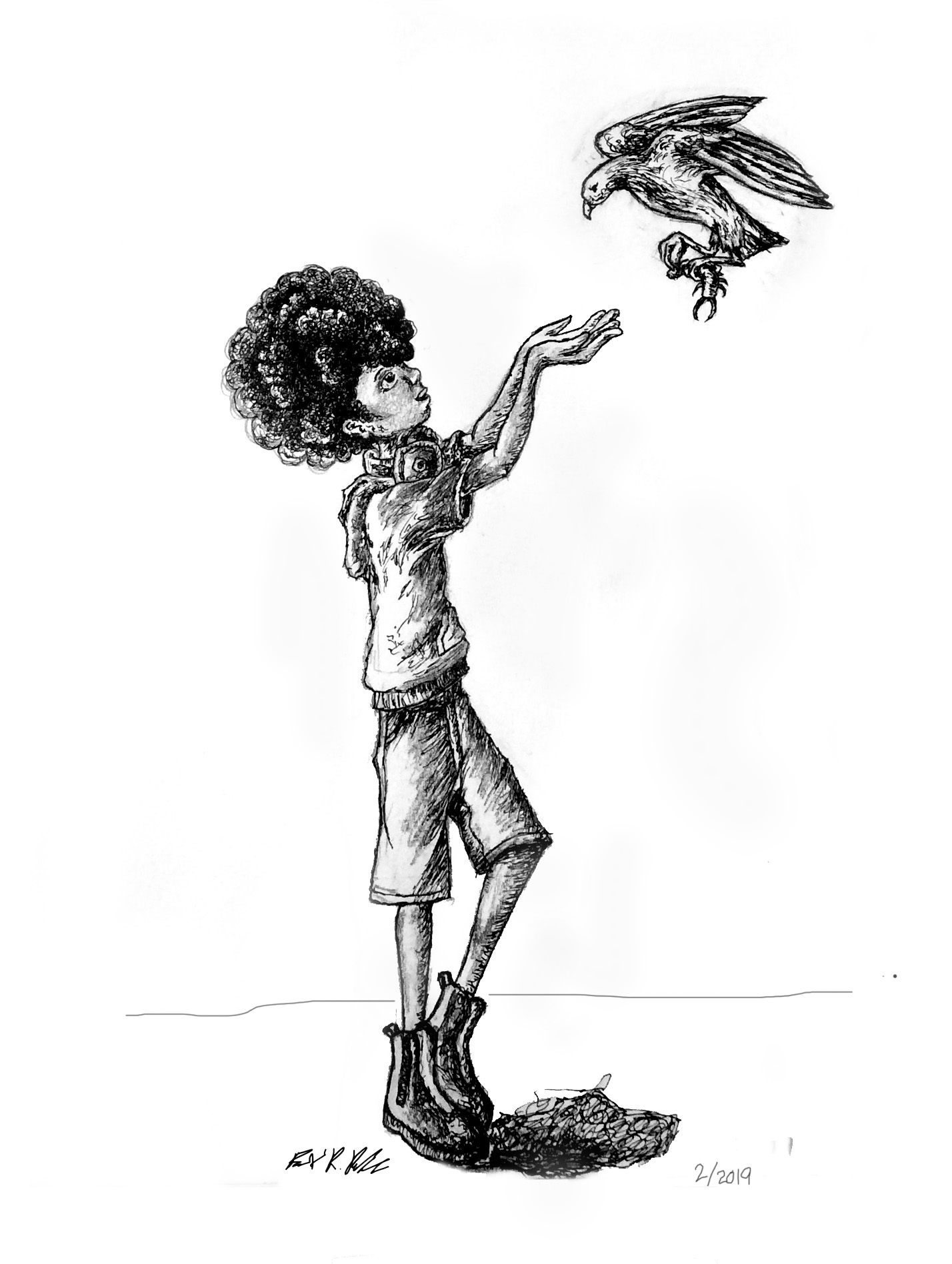 Boy and a Bird
