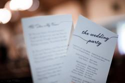 custom wedding program - photo by David Parks