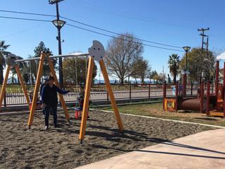 Brand new playground at Dionisiou Beach!!