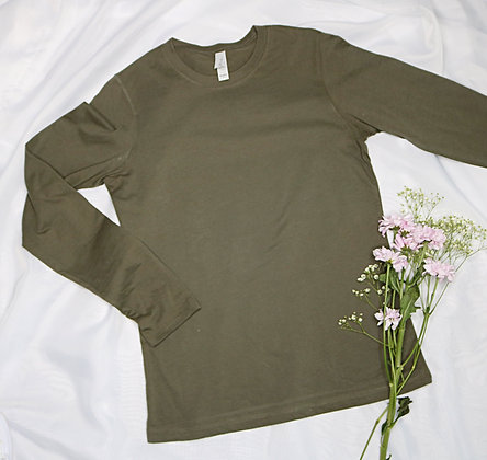 Army Green L/S Tee