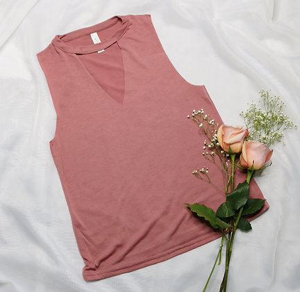 Mauve Cut Neck Tank