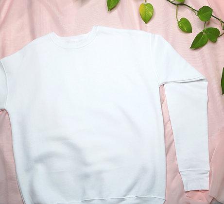 White Drop Shoulder Fleece