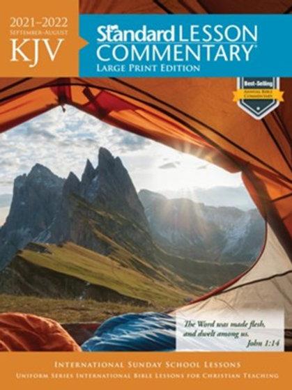 2021-2022 Standard Lesson Commentary Large Print KJV