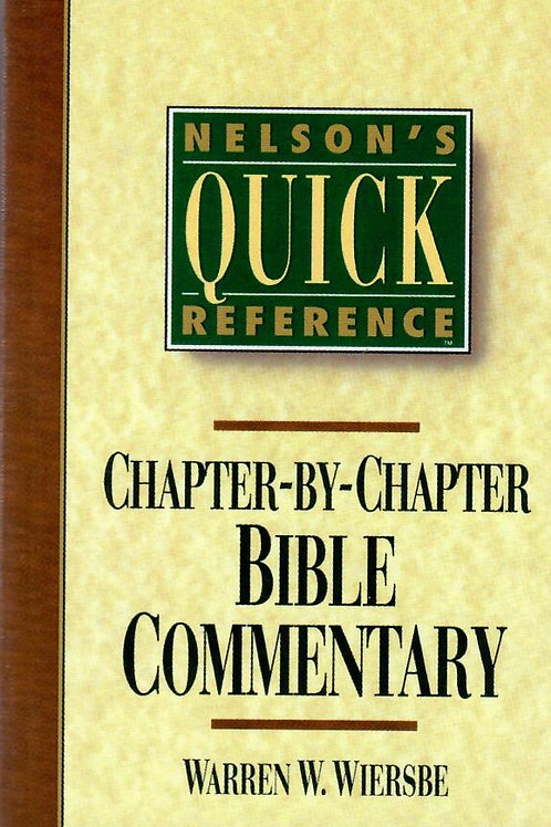Nelson's Quick Reference Bible Commentary