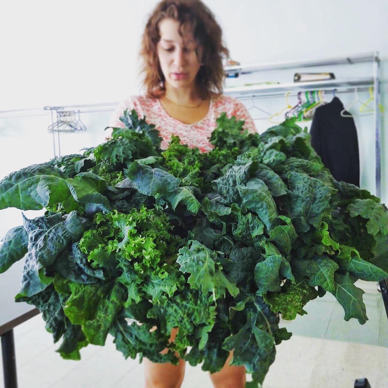 Une jupe de kale