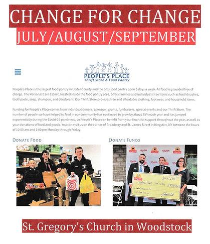 change for change July through September