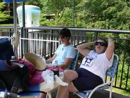 Barb & Margaret @ pool.JPG