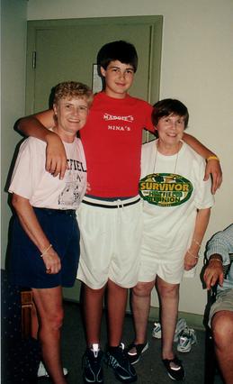 Nina, Spence, & Marg in Nina's t-shirt.t