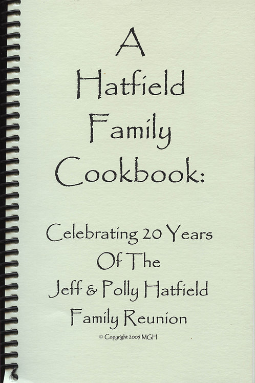 A Hatfield Family Cookbook