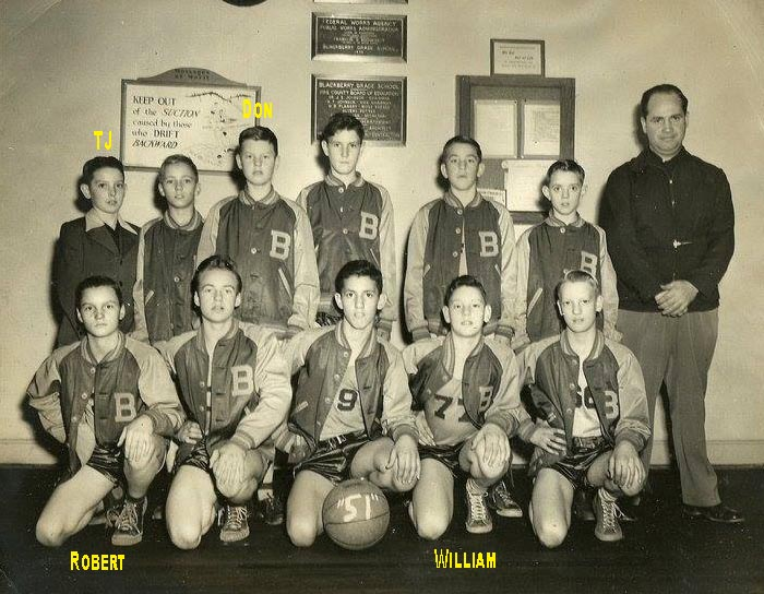 1951 Blackberry Basketball Team