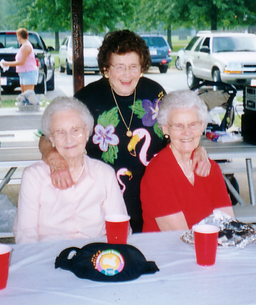 Aunts laughing at picnic.tif