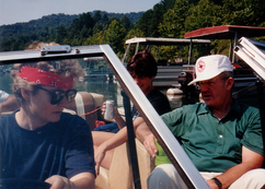Nina, Barbara, Ted in boat.tif