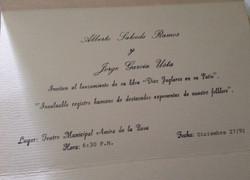 Tarjeta de invitación lanzamiento