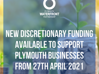 New discretionary funding available to support Plymouth businessesfrom 27th April 2021