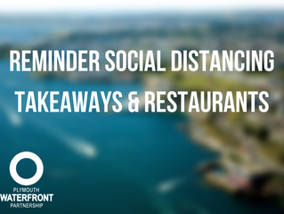 Reminder Social Distancing - Takeaways and Restaurants