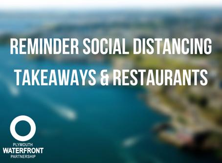 Reminder Social Distancing - Takeaways and Restaurants