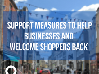 Support measures to help businesses and welcome shoppers back