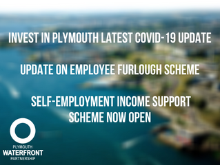 Invest in Plymouth latest COVID-19 newsletter. Update on Furlough & Self-Employment Income Suppo